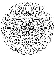 The Sun And The Moon Mandala Coloring Page Free Coloring Pages Online