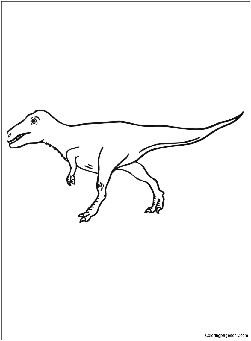 Velociraptor Coloring Pages Coloringpagesonly Com