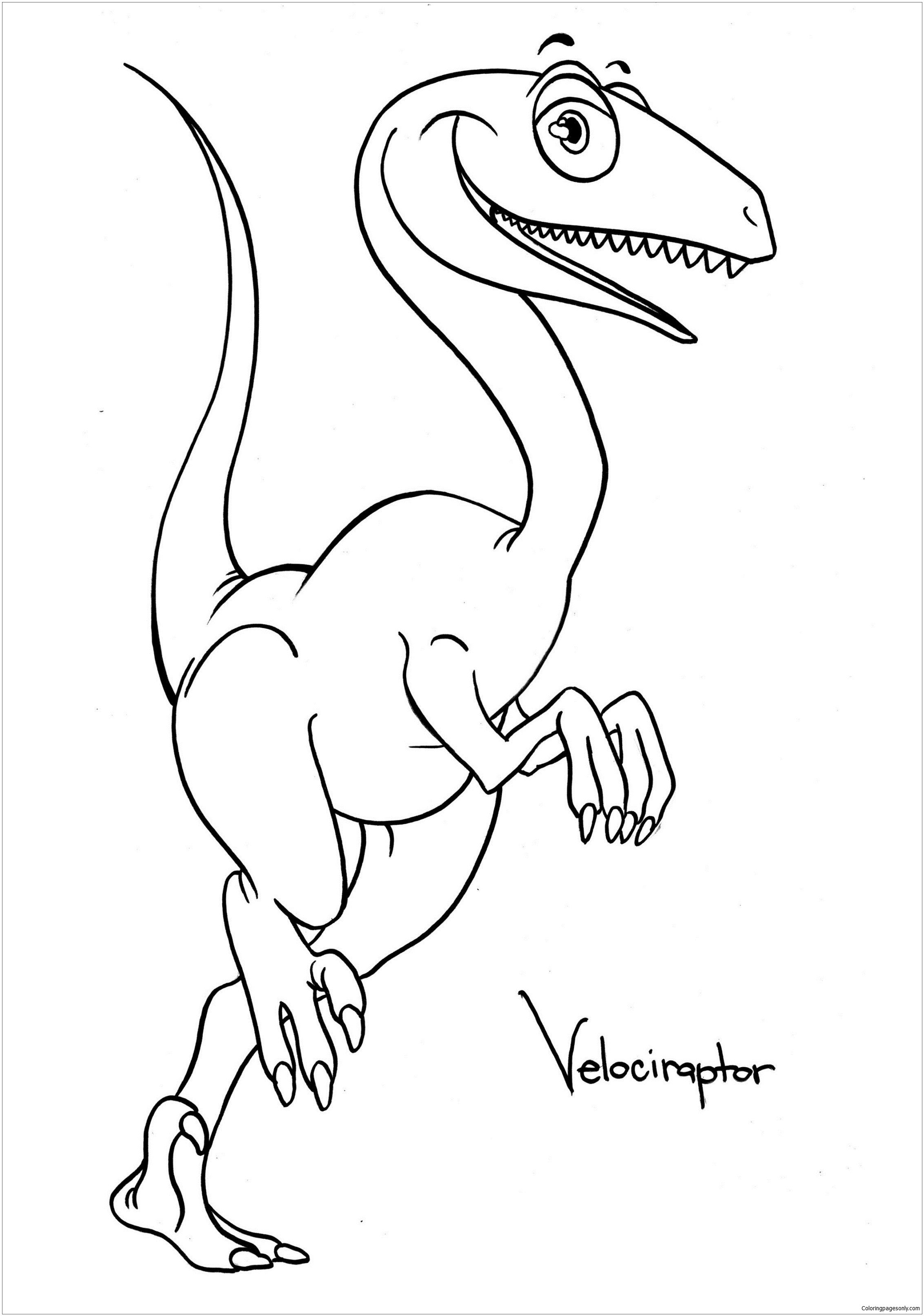Dinosaur Spring Coloring Pages