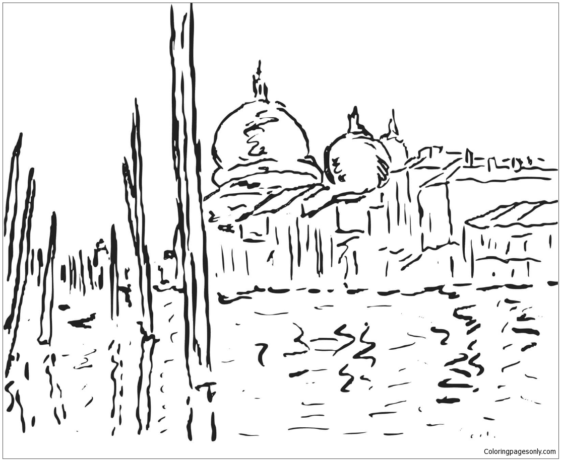 Venice By Claude Monet Coloring Page Free Coloring Pages Online