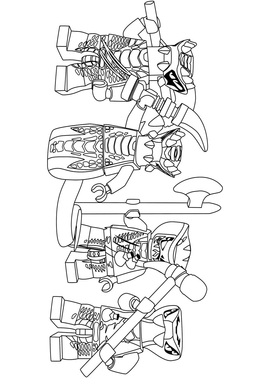 Venomari from Lego Ninjago Coloring Page
