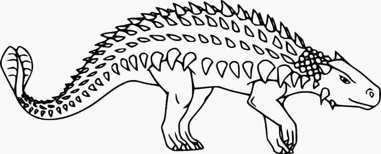 Very Simple Ankylosaurus Dinosaur Coloring Page
