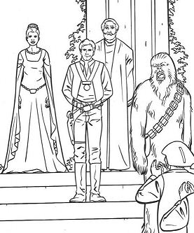 Victory Celebration Coloring Page