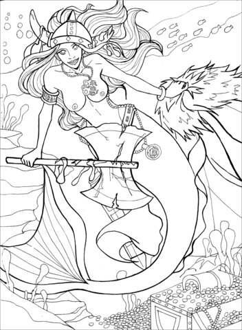 Viking mermaid