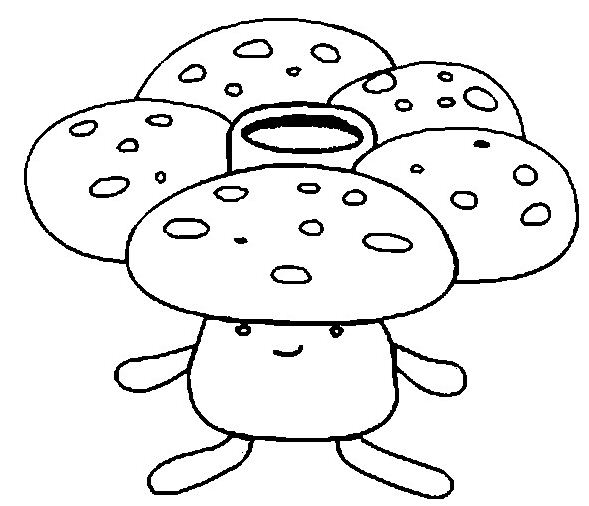 Vileplume Pokemon Coloring Page
