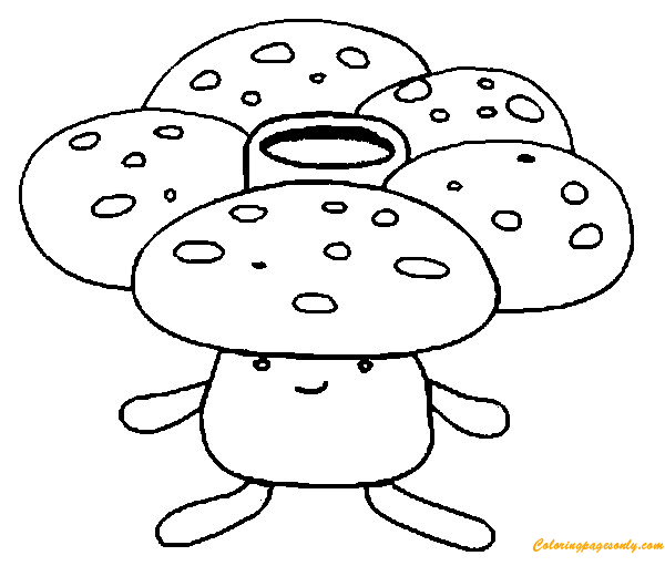 Vileplume Pokemon Coloring Pages Cartoons Coloring Pages Free Printable Coloring Pages Online