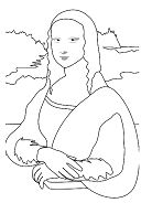 Vinci from Famous paintings Coloring Page