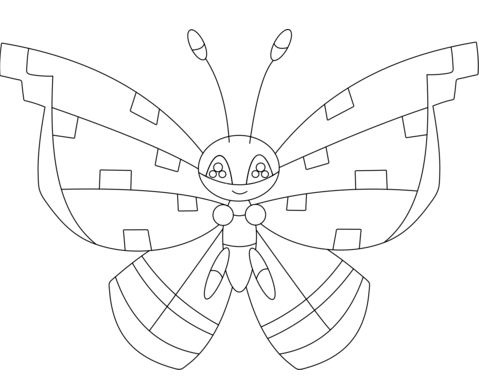 Vivillon With The Tundra Pattern
