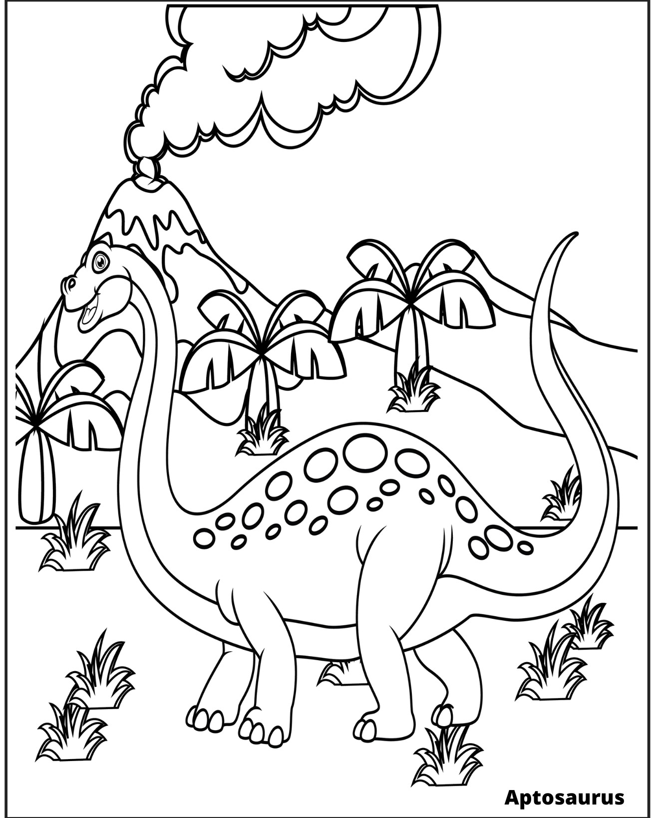 Volcano is actived Coloring Page