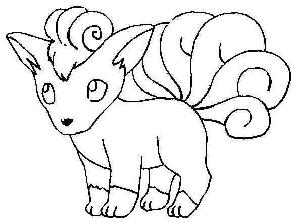 Vulpix Pokemon Coloring Page