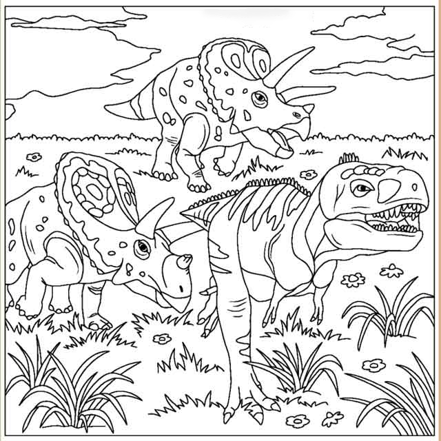 Walk around Coloring Page