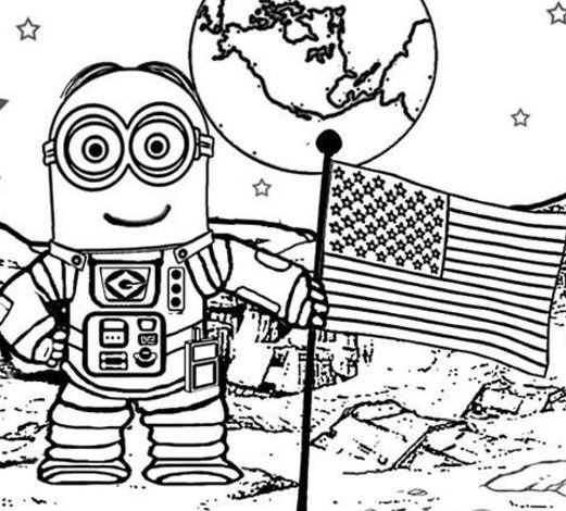 Walking On The Moon Astronaut A4
