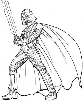 War Armor Of Darth Vader Coloring Page