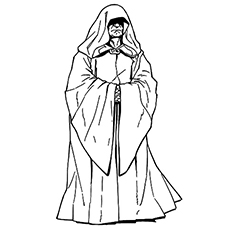 Wars Palpatine Known as Darth Sidious Coloring Page