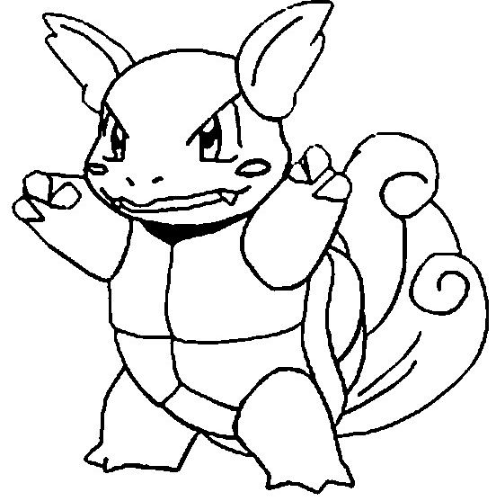 Wartortle Coloring Page