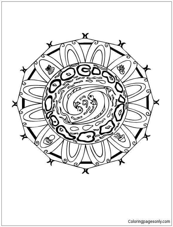 water mandala coloring pages | Water Energy Mandala Coloring Page - Free Coloring Pages ...