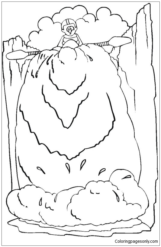 Waterfall 5 Coloring Page