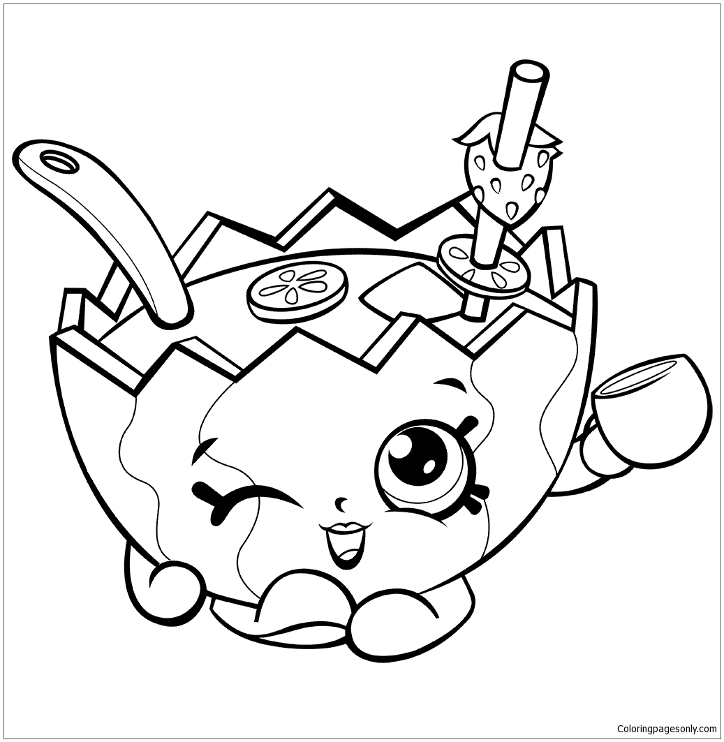 Watermelon Shopkins Coloring Pages Toys And Dolls Coloring Pages Free Printable Coloring Pages Online