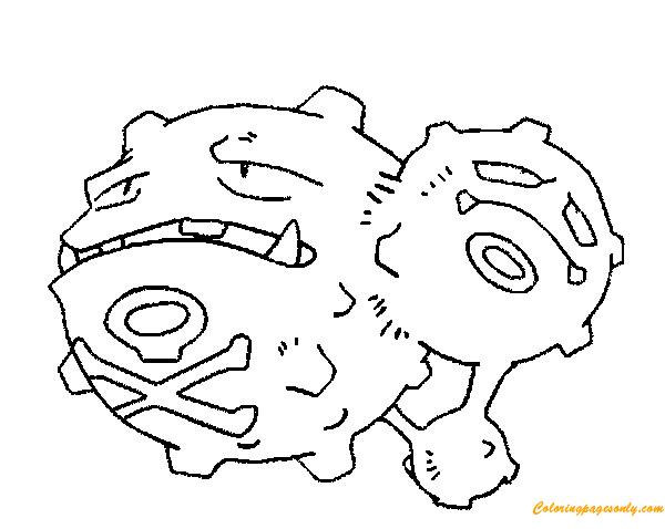 Weezing Pokemon Coloring Page