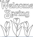 Welcome Spring Coloring Page