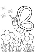 Wellcome To Spring Coloring Page