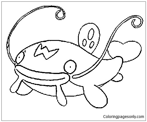 Whiscash From Pokemon Coloring Page