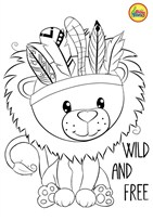 Wild And Free Coloring Page