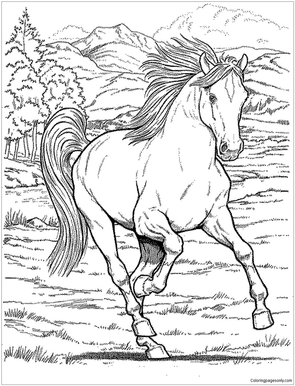 coloring pages native american | Dover Publ. horse coloring page ... | 1324x1013