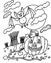 Wild Pumpkin And Bat