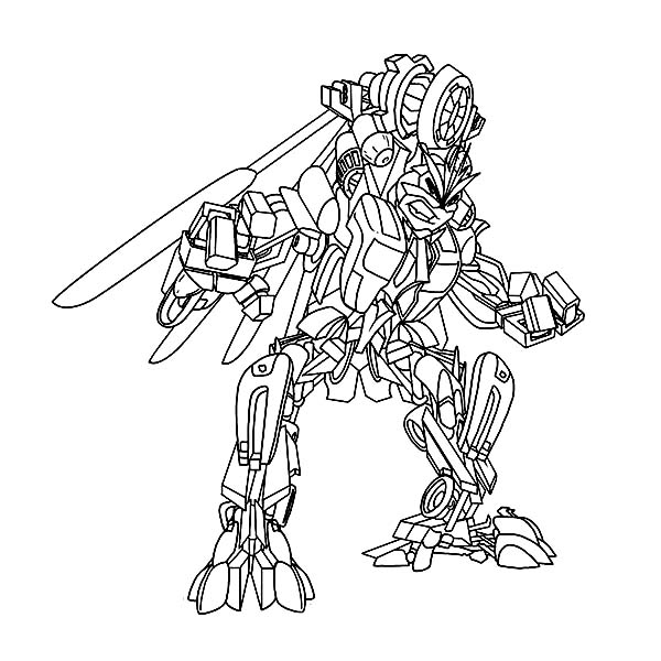 Windmill Transformers Coloring Page