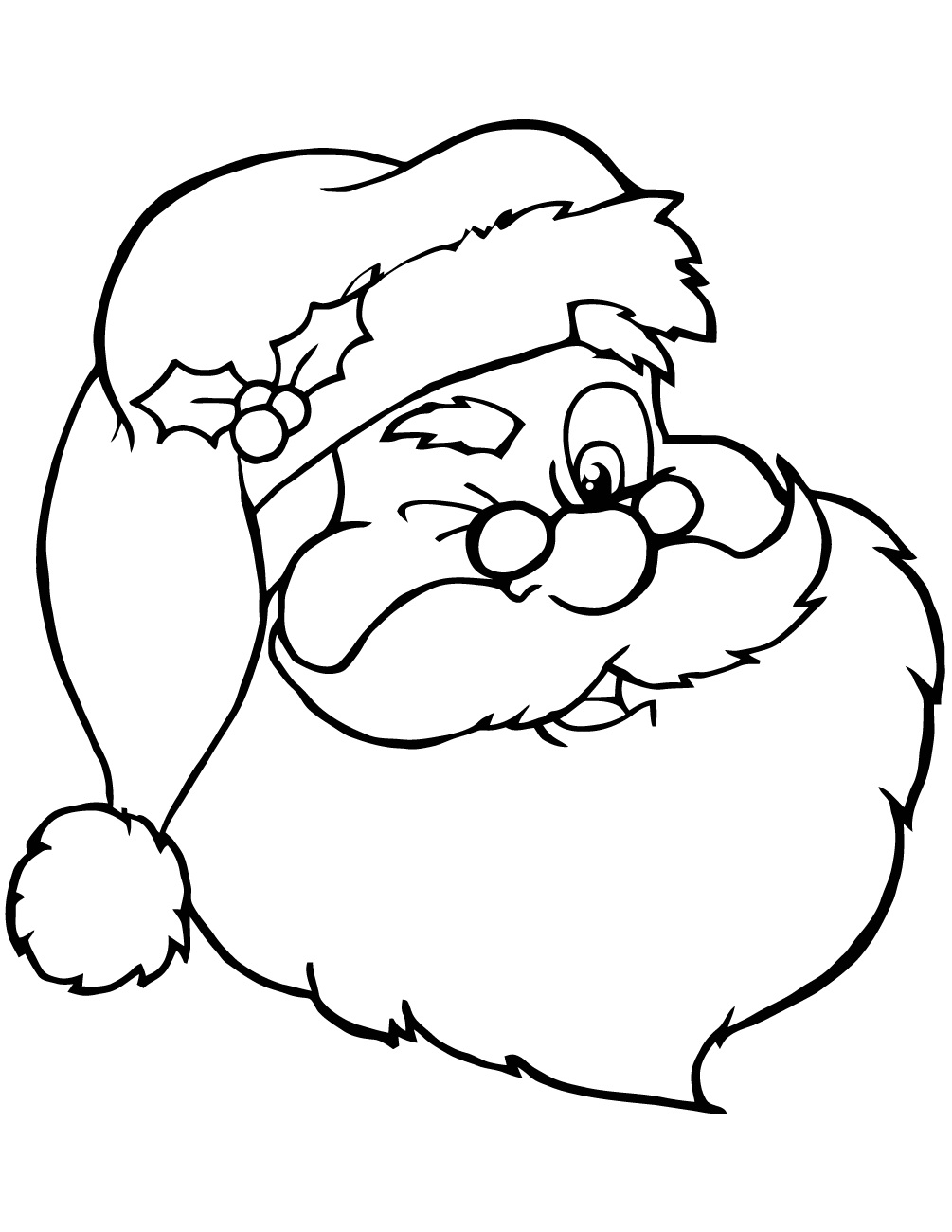 Christmas ball ornaments coloring page free coloring for Santa claus coloring pages online