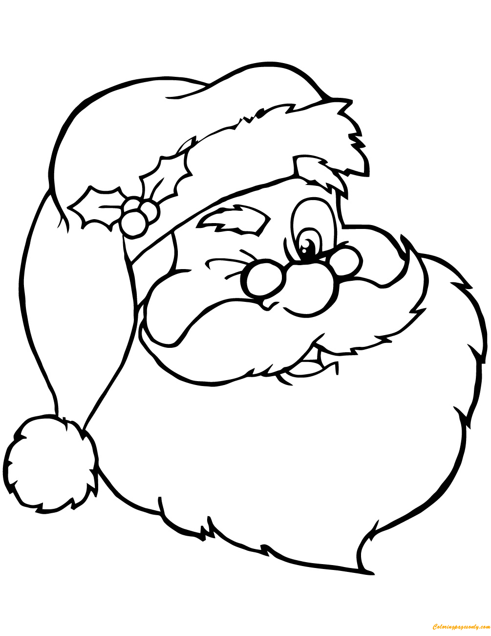 Winking santa claus coloring page free coloring pages online for Santa claus coloring pages online