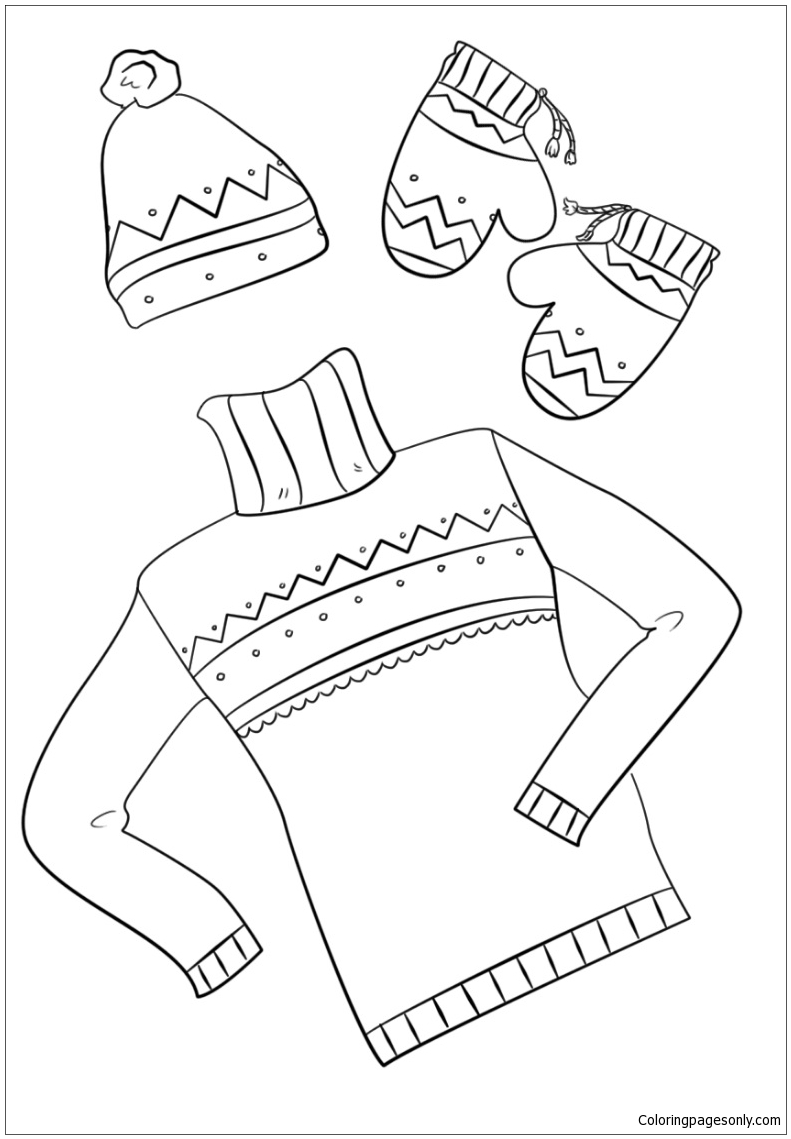 Winter Clothes Coloring Pages Nature Seasons Coloring Pages Free Printable Coloring Pages Online