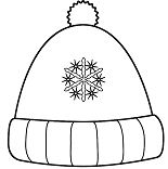 Winter Hat with Snowflakes Coloring Page