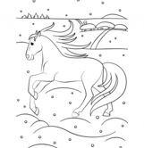 Winter Horse Coloring Page