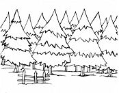 Winter Landscapes Coloring Page
