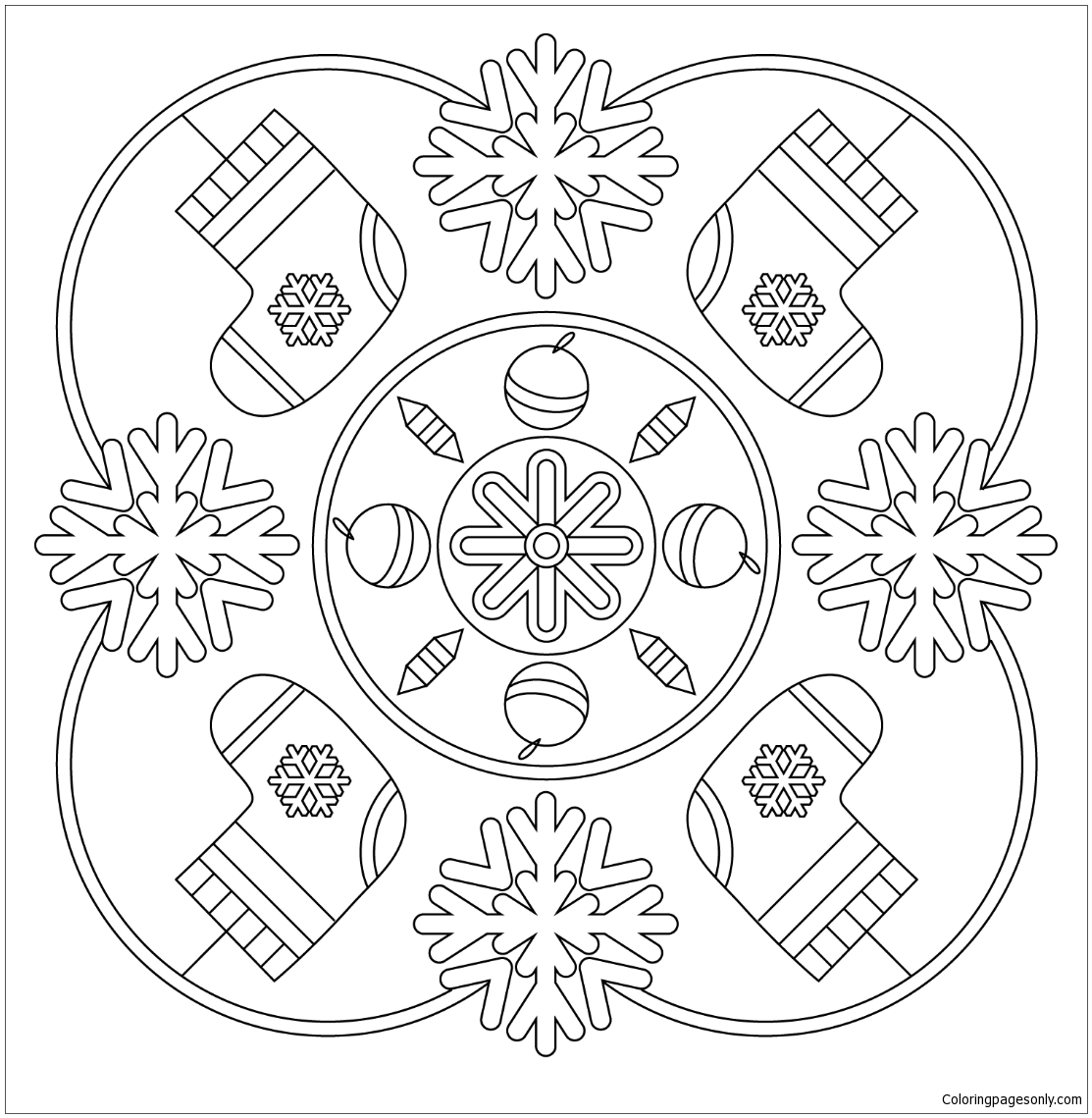 Winter Mandala Coloring Page Free Coloring Pages Online