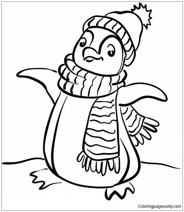 Winter Scene Coloring Page | All Kids Network | 707x613
