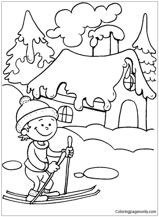 Winter Season Coloring Page - Free Coloring Pages Online