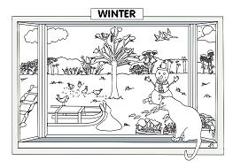 Winter Sence Coloring Page