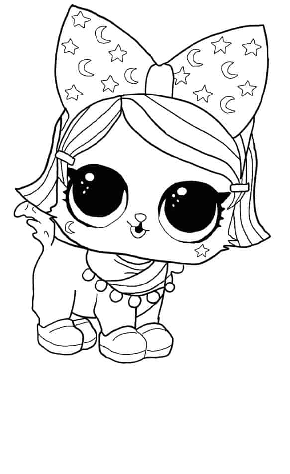 Lol Suprise Doll Witchay Kittay Coloring Page