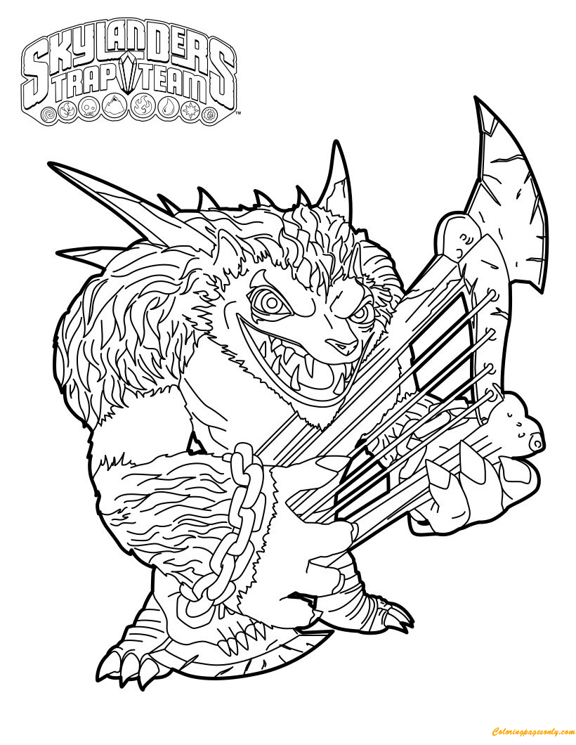 Wolfgang Skylanders Coloring Page - Free Coloring Pages Online