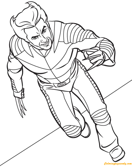 Wolverine Coloring Page Free