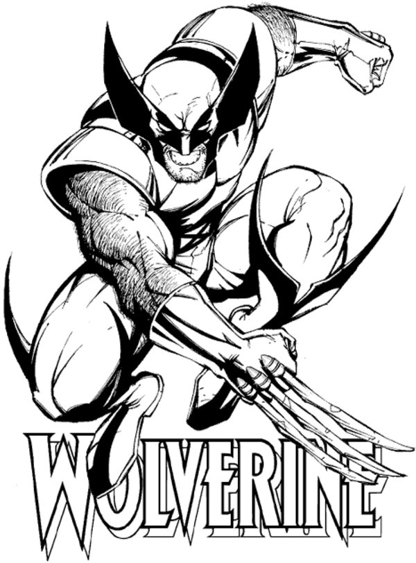 Wolverine from Avengers Coloring Page