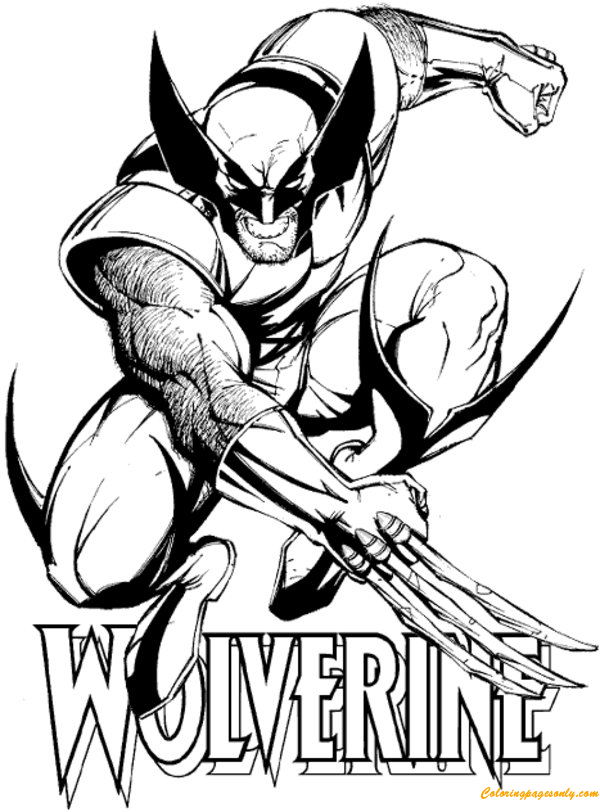 Avengers Wolverine Coloring Pages : Wolverine from avengers coloring page free