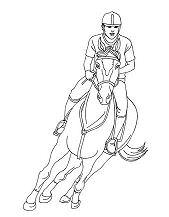 Woman On A Galloping Horse