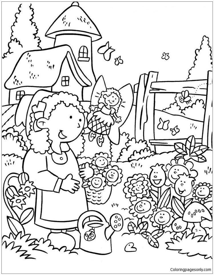 Women Who Love Nature Garden Coloring Page