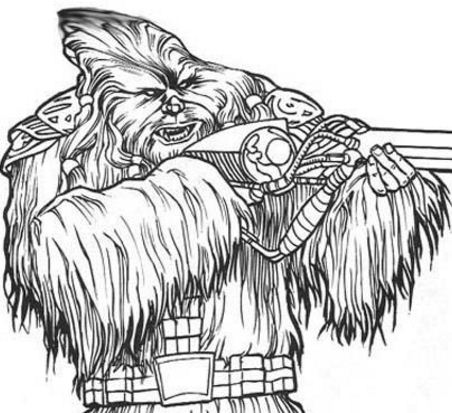 Wookie Soldier With A Gun