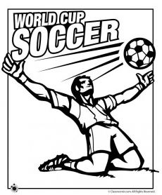 World Cup Soccer Coloring Page