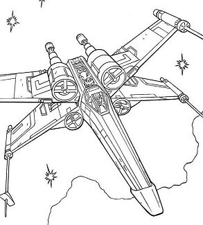 X-Wing Fighter Of Luke Skywalk